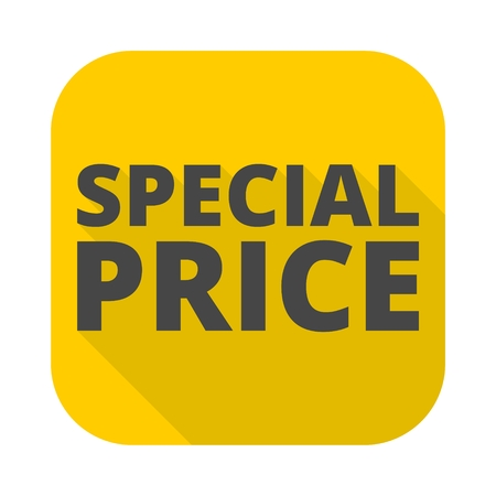 Special price icon with long shadow