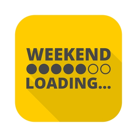 long weekend: Weekend Loading icon with long shadow Illustration