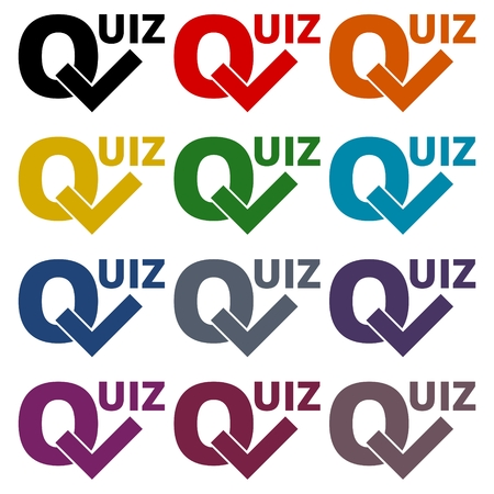 Quiz icons set