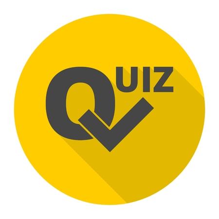Quiz icon Illustration