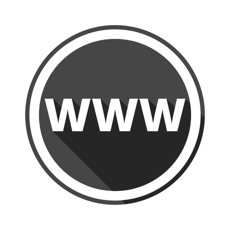 registrar: Domain Name Registration (www button) Icon Illustration