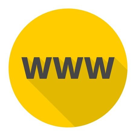 Domain Name Registration (www button) Icon Illustration