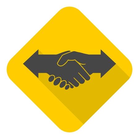 dissension: Partnership (Hand shake arrows) icon