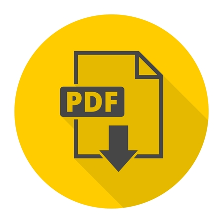 Pdf icon with long shadow Stock Vector - 62092617