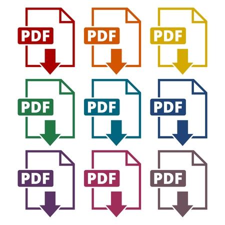 pdf: Pdf icons set