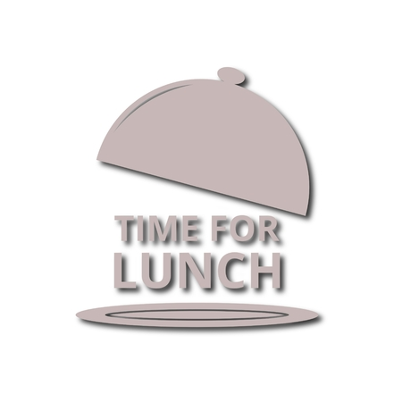 breakout: Time for lunch, vector Illustration