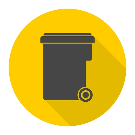 local supply: Garbage container icon Illustration
