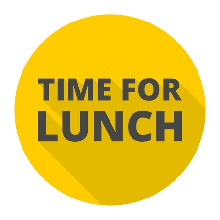 breakout: Time For Lunch icon with long shadow