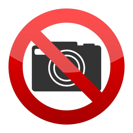 No photo camera sign Illustration