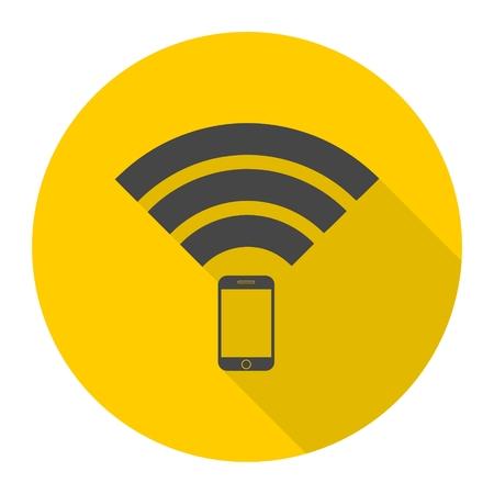 wireless signal: Signal symbol,Wireless, wifi icon