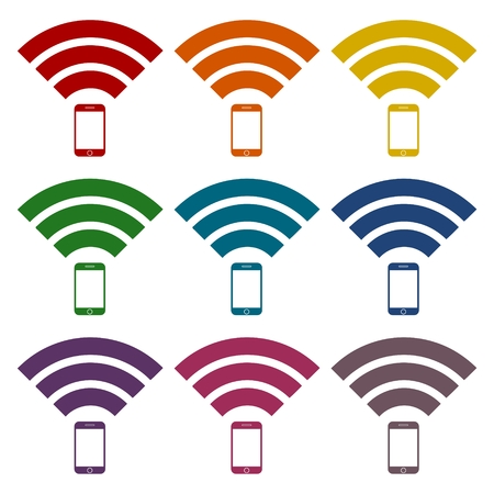 wireless signal: Signal symbol,Wireless, wifi icons set Illustration