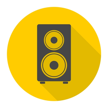 Speaker Icon with long shadow