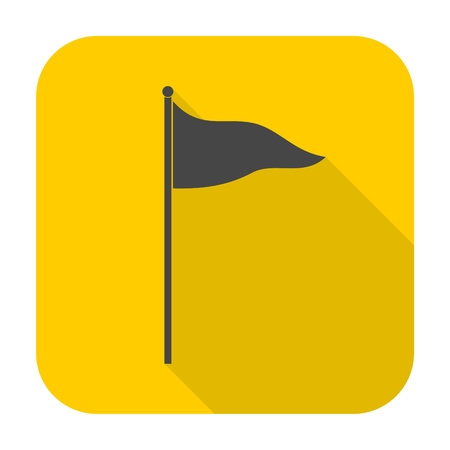 Flag Icon with long shadow