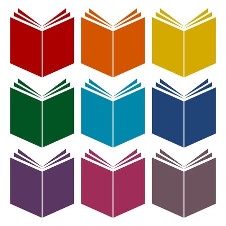 acquaintance: Book Icons set
