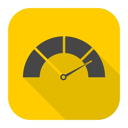 dsl: Speedometer icon with long shadow