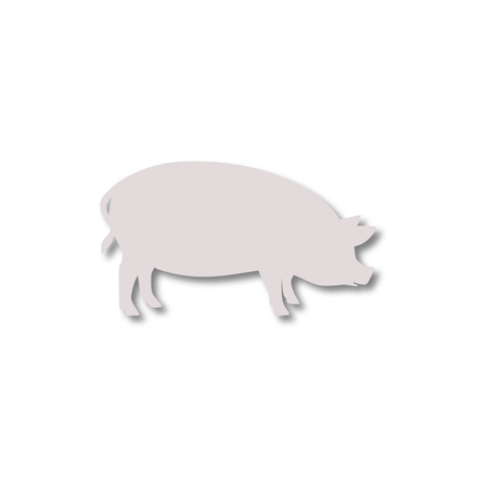 pigsty: Silhouette of pig icon
