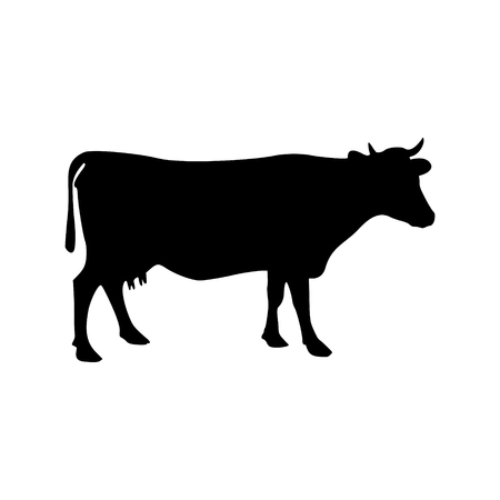 hoofed mammal: Cow silhouette icon