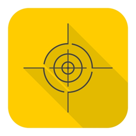 Vector target icon with long shadow
