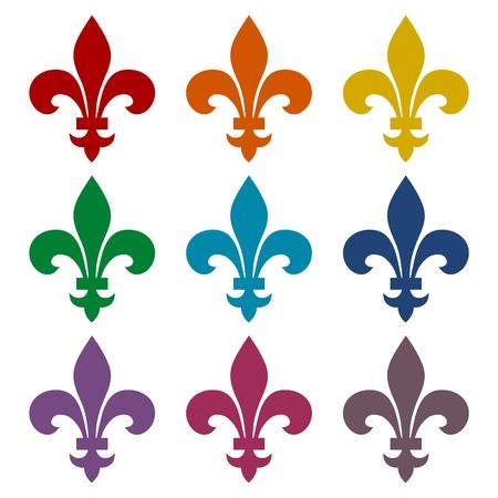 Fleur de lis icons set