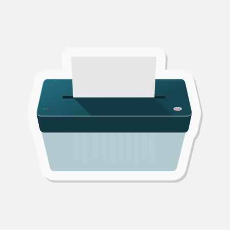 paper shredder: Paper Shredder sticker Illustration