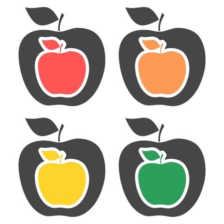 Apple - vector icons set