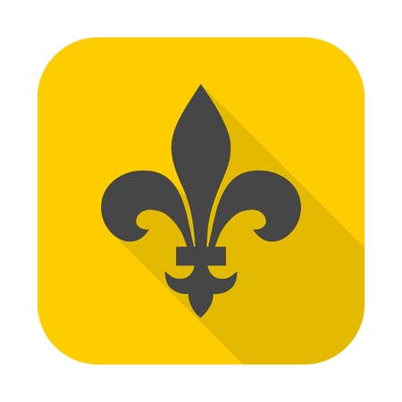 fleur: Fleur de lis icon Illustration