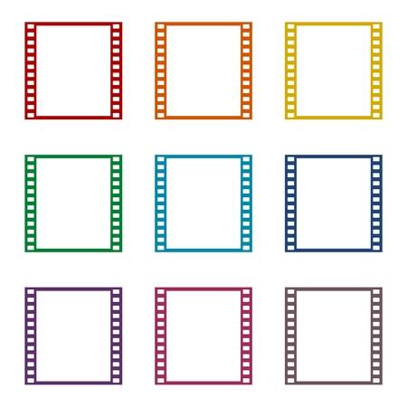 Film Frame Icons Set Standard-Bild - 62004101