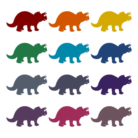 triceratops: Triceratops icons set