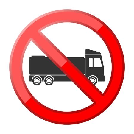 No truck traffic sign