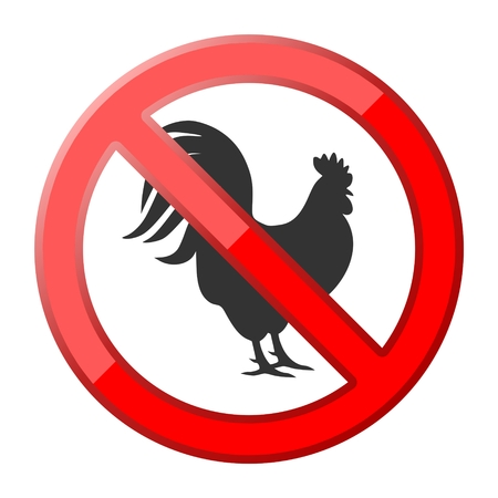 cocky: No rooster traffic sign