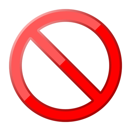 No Sign, Vector on white background