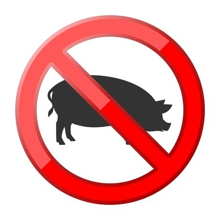 porcine: No pig traffic sign
