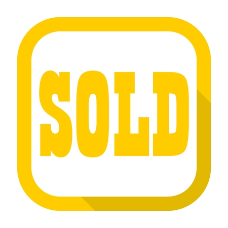 Sold Sign, icon with long shadow