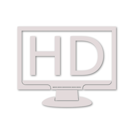 hdtv: High definition television symbol, HDTV icon