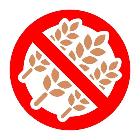 intolerancia: El gluten icono sesión libre Vectores