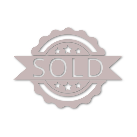 Sold sign, icon
