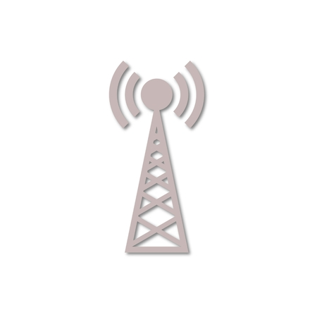 cell phone transmitter tower: Transmitter simple icon