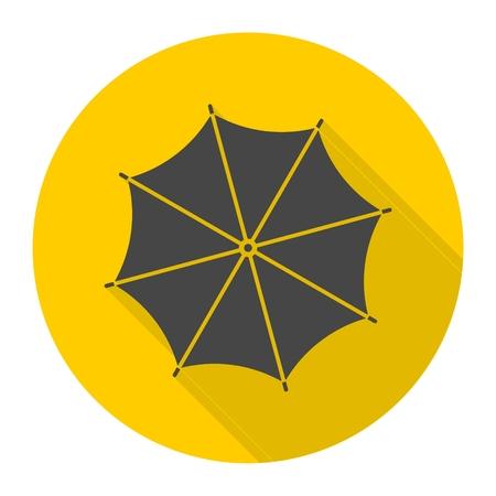 Umbrella icon with long shadow