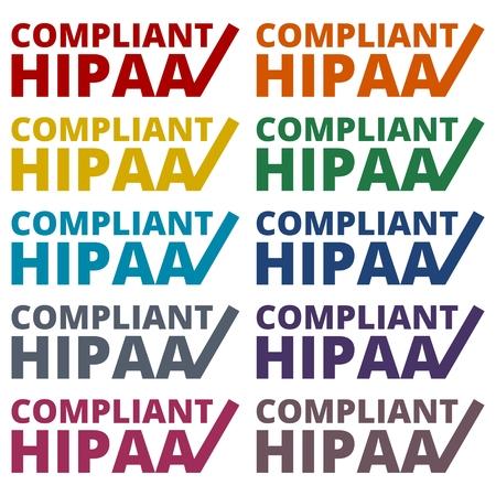 accountability: HIPAA - Health Insurance Portability and Accountability Act icons set