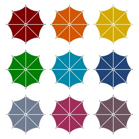 Umbrella icons set Illustration