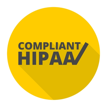 HIPAA - Health Insurance Portability and Accountability Act icon with long shadow