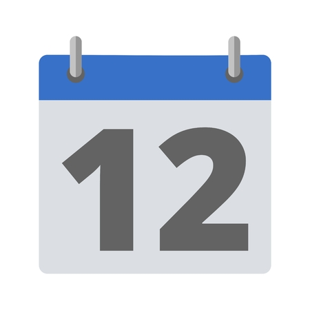 number 12: Calendar icon - number 12