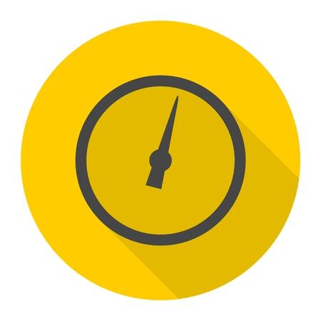 pressure gauge: Pressure gauge - Manometer icon with long shadow