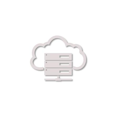 remote backup service: Hosting server icon Illustration