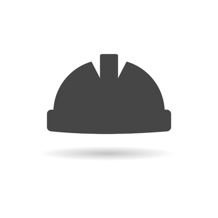 Safety worker hardhat icon