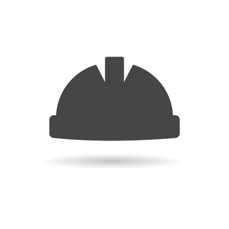 Safety worker hardhat icon