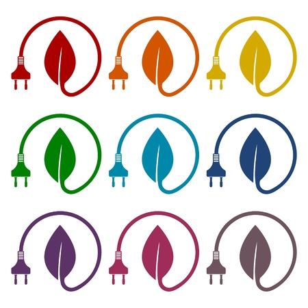 iconos de ahorro de energía establecidas