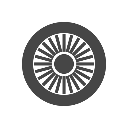 jet engine: Jet engine icon Illustration