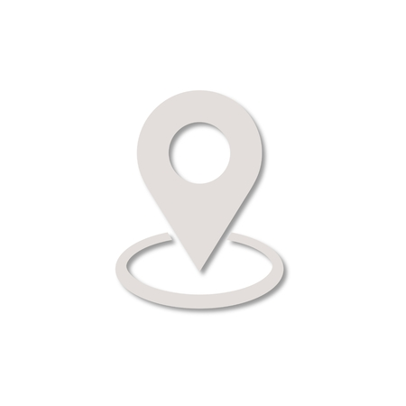 map pin: Map pin place marker icon Illustration