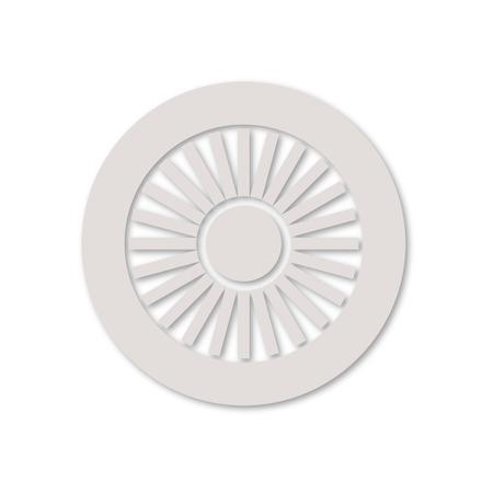 planos electricos: icono del motor de jet Vectores